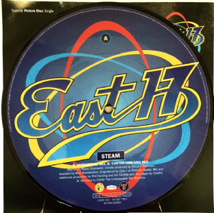 "East 17 ‎- Steam (7"") (Picture Disc) (VG+/VG+)"